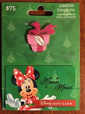 MINNIE 2015 Holiday Gift Card & Pin Set Disney Disneyland No Value on Card