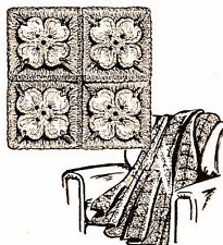 Vintage Crochet PATTERN to make Afghan Couch Throw Flower Petals Blanket Dogwood