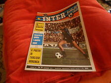 CALCIO  RIVISTA  INTER  FOOTBALL  CLUB  NR 11  NOVEMBRE  1972   POSTER BURGNICH