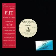 F.IT - Listen to F.IT / Team SLE  RARE OOP ORIG Canadian Boom Rap Hip Hop M+ 12""