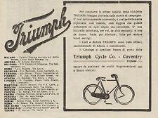 Z1344 Biciclette e Cicli a Motore TRIUMPH - Pubblicità d'epoca - 1909 Old advert