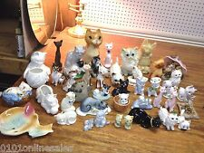 41 Purrrfect Cats Kittens Kitties Felines mostly Ceramic Figurines also Candles!