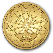 2015 Canada 25 cent 0.5 g Fine Gold Coin Diwali: Festival of Lights - Tax Exempt