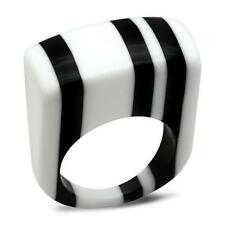 Cocktail STRIPE  RESIN LUCITE plastic Rainbow Ring .Size  8. FREE USA SHIPPING!
