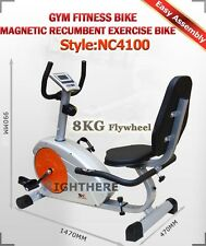Magnetic Recumbent Exercise Bike Home FITNESS Heavy Duty Seated Recovery GYM LCD