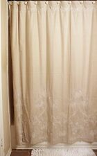 "Anthropologie Embroidered Linen Shower Curtain NIP RARE! Birds Flowers 72"" x 72"""