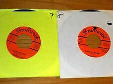 LOT of 4 SOUL/R&B/POP 45 RPMs - JACKIE WILSON - ORANGE BRUNSWICK LABEL