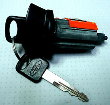 NEW FORD OEM IGNITION SWITCH LOCK CYLINDER WITH 2 FORD LOGO NON-TRANSPONDER KEYS