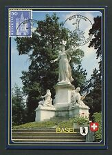 SCHWEIZ MK 1983 BASEL MAXIMUMKARTE CARTE MAXIMUM CARD MC CM m131