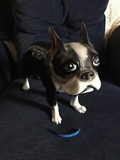 Boston Terrier Figurine Extra Lg 15Lx11H life-like Exc cond No damage Yh Japan