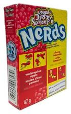 Wonka Double Dipped Saucette Watermelon Apple & Cherry Lemonade Nerds 47g - New