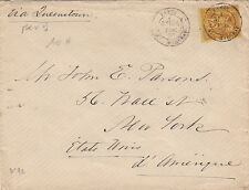 Lettre France Sage Paris New-York United State Cover Brief