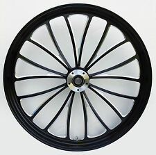 "Manhattan ""Black Cut"" CNC 23"" x 3.5"" Front DD Wheel for Harley & Custom Models"