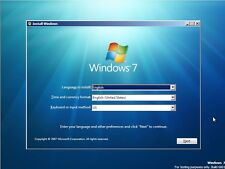 Windows 7 64 bit Recovery Reinstall Repair Disc Home Pro Ultimate All Versions
