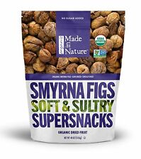40 OZ Made in Nature ORGANIC Smyrna / Calimyrna Figs SOFT & SULTRY Sun Dried