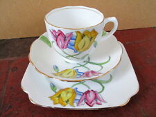 "Art Deco / Vintage China Tea Set Trio.James Kent. ""Tulip"" British Hand Painted."