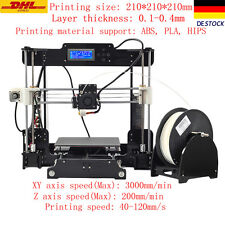 2016 Upgraded Quality High Precision Reprap Prusa i3 Drucker DIY 3d Printer PL