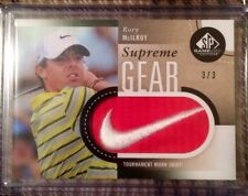 2014 SP Game Used Golf Supreme Gear RORY MCILROY 3/3 Nike Swoosh Logo Patch 1/1