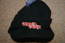 LINKIN PARK EMBROIDERED LOGO RIBBED BILLED BEANIE CAP SKI HAT BNWT OFFICIAL