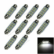 10X White 41MM 8 1210 Festoon Dome Map Interior LED Light Lamp Roof Bulb I304