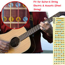 Fretboard Note Labels Fret Stickers For 6 String Guitar Acoustic Electric Bass