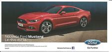 Carte potale Postcard NEW FORD MUSTANG 2014 SALON DE L'AUTO PARIS
