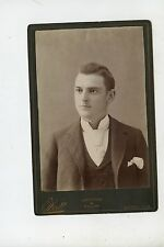 CABINET CARD,Vintage Photo,Handsome Young Man,Quincy, Illinois