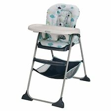 Graco Slim Snacker Easy Fast Fold High Chair Stratus Cloud Blue n White NEW NIB