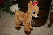 "Build A Bear Ruldolph Red Nose Reindeer CLARICE  BAB 16""   1Z"