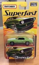 "RARE ISSUE MATCHBOX SUPERFAST #7 GREEN & WHITE '69 CHEVROLET CAMARO W BOX ""Rare"""