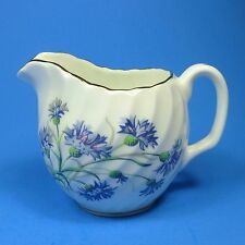 Adderley Bone China CORNFLOWER Creamer Blue Flowers Royal Imperial Swirl England