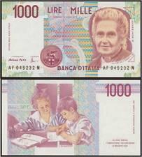 1000 LIRE 26/11/1996 F MONTESSORI FDS/UNC FIOR DI STAMPA