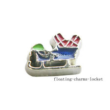 10pcs Christmas sleigh Floating Charms for Glass Locket Free Shipping FC1100