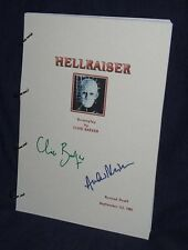 Movie Script - Cast Signed - Hellraiser - Clive Barker