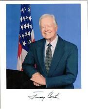 """Jimmy Carter, Former US President, Signed 8"""" x 10"""" Color Photo, Pre-Print"""