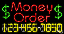 "NEW ""MONEY ORDER"" 32x17 w/YOUR PHONE NUMBER SOLID/ANIMATED LED SIGN 25081"