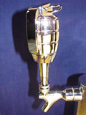 Custom Pineapple Grenade BAR BEER TAP HANDLE Kegerator Chrome Metal Collectible!