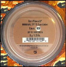 BARE MINERALS ESCENTUALS SPF 15 Foundation - TAN N30 - 8G - XL - NIB Free ship
