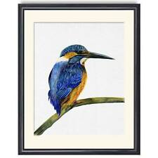 A4 Kingfisher Bird Watercolour Painting Signed Print Unique Gift
