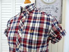 Fred Perry Madras Check Button-Down Shirt - M/L - Ska Mod Scooter Casuals Skins