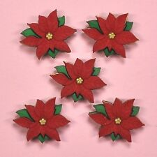 DRESS IT UP Buttons Christmas Poinsettias 2951 - Embellishment  - Xmas