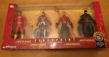 "DC DIRECT FLASHPOINT ACTION FIGURE BOX SET 6"" FLASH BATMAN AQUAMAN WONDER WOMAN"