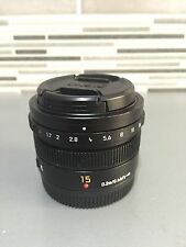 Panasonic LUMIX G Leica DG Summilux 15mm f/1.7 asph lens for micro 4/3