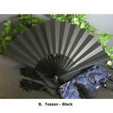 "Japanese Samurai's Last Weapon ""Tessen (Iron ribbed fan)"" Large size 30cm L."