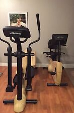Life Fitness Life Cycle 8500 Elliptical & Recumbent Bike Commercial Exercise