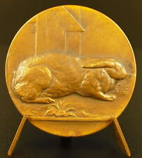Médaille 1891 avicultures du Nord lapins rabbit animal 35 mm medal