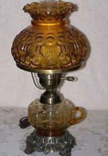 RARE Amber Moon and Star 16 in Table Lamp/thumbhold -GTC