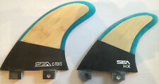 SEA Surfboard fins Carbon Base Bamboo C-Tek 5 Quad compatible with FCS plugs New