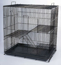 Chinchilla Guinea Pig Rat Hamster Rodent Mouse Rat Small Animal Cage BLK #777