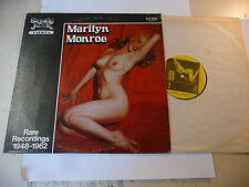 "MARILYN MONROE"" RARE RECORDINGS 1948/62-disco 33 giri SANDY Usa 1979""SEXY COVER"